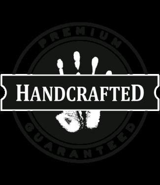 Manopoulos Donker Walnoothouten kist - Leatherette top -met 300pcs Poker set