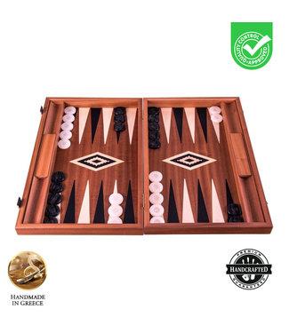 Manopoulos Mahonie - met zijlade -  Backgammon spel - 48x30cm
