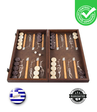 Manopoulos Robusto Cigar Backgammon - 48x26cm  - Luxe