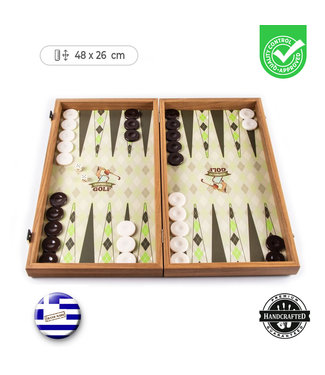 Manopoulos Golf Backgammon - 48x26cm  - Luxe
