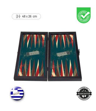 Manopoulos Texas Backgammon set - Prachtig thematisch - 30x17 cm