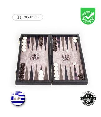 Manopoulos Wijn Backgammon set - Prachtig thematisch - 30x17 cm