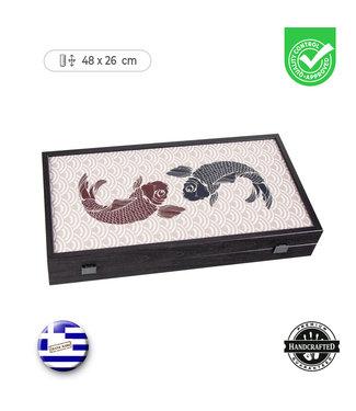 Manopoulos Japanse Koi Karper - Backgammon - 48x26cm  - Luxe