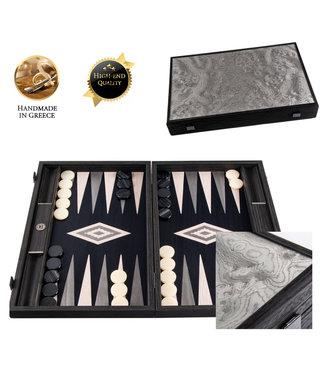Manopoulos Valvona Burl Backgammon spel - 30x20  cm