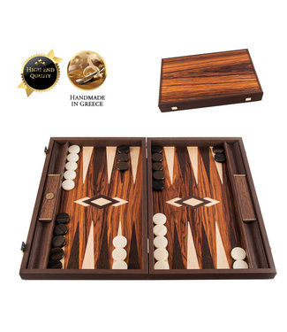 Manopoulos Palisander kroon Backgammon spel - 48x30 cm