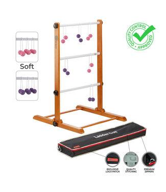 Laddergolf spel - Soft-Golf ballen - Roze Paars - Luxe