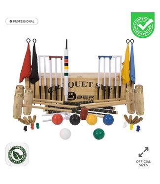 Prachtige 6 persoons Professionele Croquet set - met kist