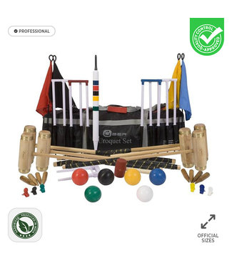 Prachtige 6 persoons Professionele Croquet set -met luxe Tas