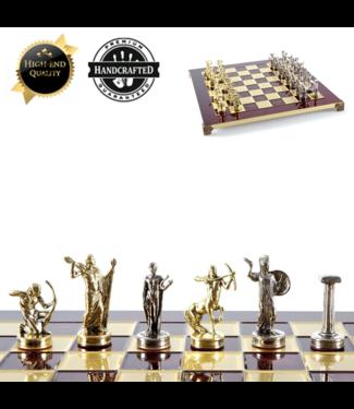 Thematisch Schaakspel Battle of Giants Rood-Goud-Brons