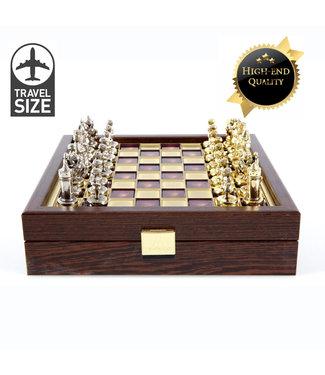 Manopoulos Byzantijns Schaakspel - Bord - Stukken - Kist - 20x20 cm
