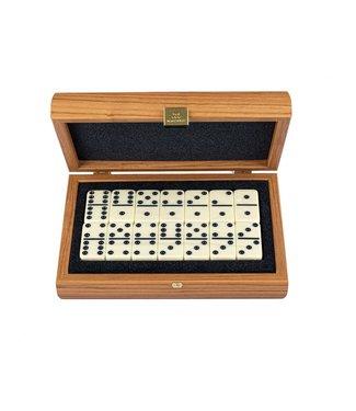Manopoulos Domino set ultraluxe - Walnoot design - 24x17 cm