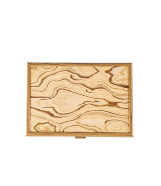 Manopoulos Walnoot houten kist met naturel houten Italian Olive deksel
