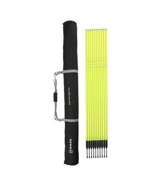 RAM Slalomstangen met veer basis - 180 cm - 10 stuks -