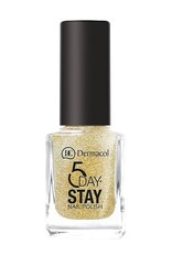 Dermacol 5 Day Stay Longlasting Nail Polish 11ml - W 14 - Gold Tiara