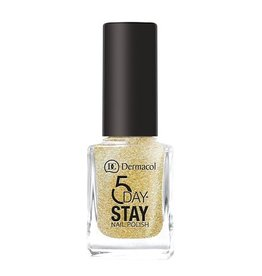 Dermacol 5 Day Stay Longlasting Nail Polish 11ml - W 14 - Gold Tiara