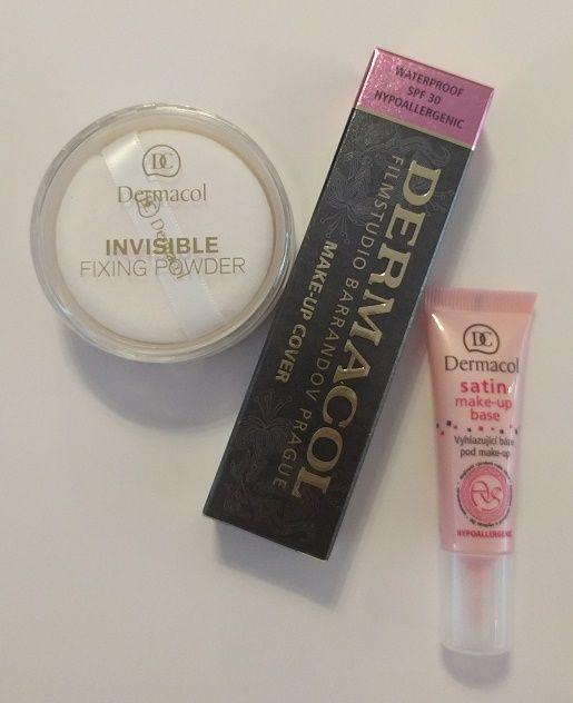BONUS PAKKET - Dermacol set 207 - Dermacol Make-Up Cover tint 207 - 30 Gram - Satin Make-Up Base - 10ML - Invisible Fixing Powder - Light - 13 Gram