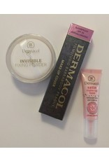 BONUS PAKKET - Dermacol set 218 - Dermacol Make-Up Cover tint 218 - 30 Gram - Satin Make-Up Base - 10ML - Invisible Fixing Powder - Light - 13 Gram
