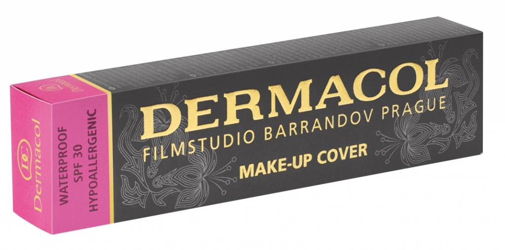 BONUS PAKKET - Dermacol set 222 - Dermacol Make-Up Cover tint 222 - 30 Gram - Satin Make-Up Base - 10ML - Invisible Fixing Powder - Light - 13 Gram