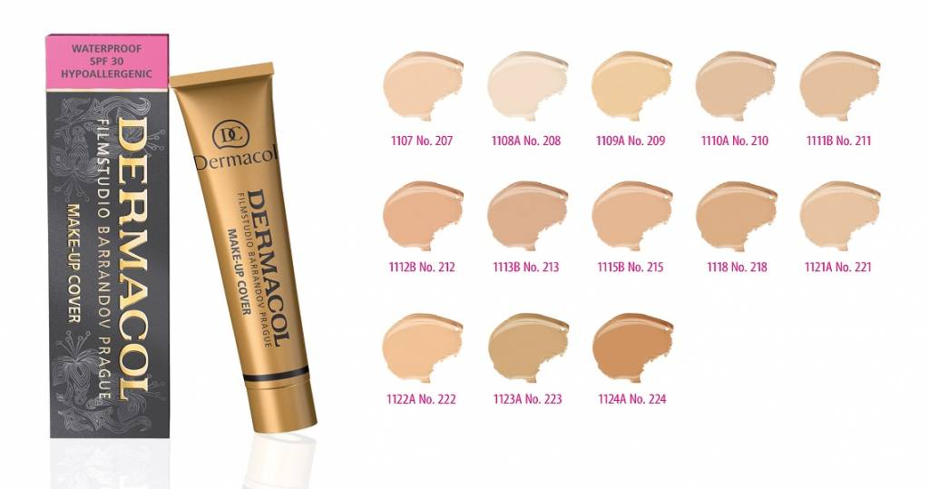 Dermacol camouflage make-up cover Legendary high covering make-up - Tint 208 - 0000085945944