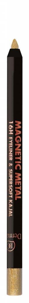 Goud - Dermacol Magnetic Metal 16H Eyeliner & Supersoft Kajal 2g - W1