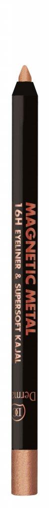 BONUS PAKKET - Dermacol Ilusión Super Volume Mascara - Zwart - 11ML &  Bronze - Dermacol Magnetic Metal 16H Eyeliner & Supersoft Kajal 2g - W2