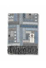 "So Cosy Plaid 100% Merino wool ""Patchwork"" Blue"