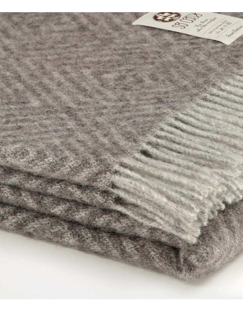 So Cosy Plaid 100% wol Ruiten Taupe/Grijs