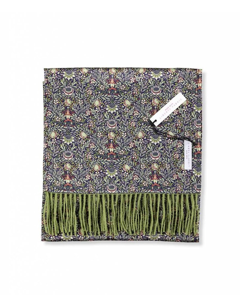So Cosy Sjaal 100% Baby Alpaca wol 100% Zijde Liberty London Groen/Peach Porter