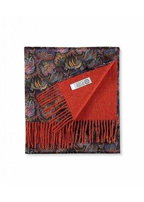 So Cosy Sjaal 100% Baby Alpaca wol100% Zijde Liberty London Oranje/Paisley Corals