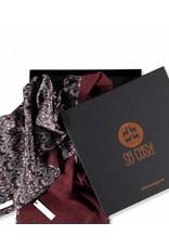 So Cosy Scarf 100% Baby Alpaca wool 100% Silk Liberty London Bordeaux / Queen Bee