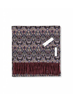 So Cosy Sjaal 100% Baby Alpaca wol 100% Zijde Liberty London Bordeaux/Queen Bee