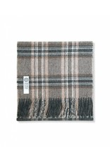 So Cosy Plaid 100% Baby Alpaca wool Checkered Dark Brown / Beige