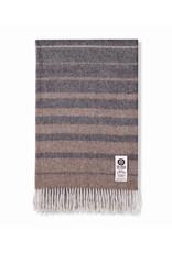 So Cosy Plaid 100% Baby Alpaca wool Horizontal Stripes Beige
