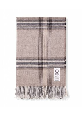 So Cosy Plaid 100% Baby Alpaca wol Ruiten Beige