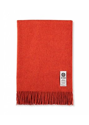 So Cosy Plaid 100% Baby Alpaca wool Orange