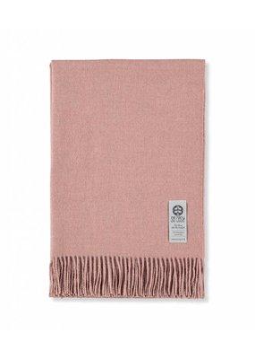So Cosy Plaid 100% Baby Alpaca wool soft pink