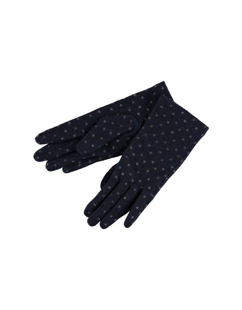Gloves dark blue with stars