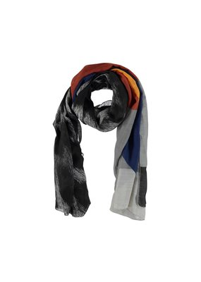 Scarf black / gray with stripes