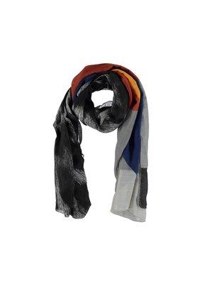 Sjaal zwart/grijs met strepen