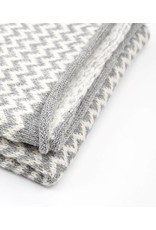 So Cosy Scarf Knitted Alpaca wool White / Light gray