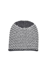 So Cosy Knitted hat with Baby Alpaca wool Light Gray / Dark Gray