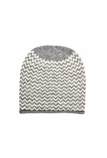So Cosy Knitted hat Baby Alpaca wool White / Light gray
