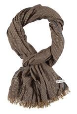 Sjaal heren bruin met gele streepjes