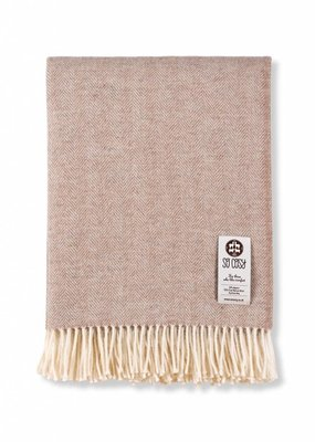 So Cosy Plaid 50% Alpaca wol 50% Merino wol Herringbone beige