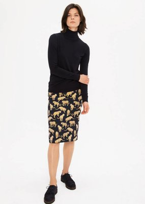 Zenggi Panther Jacquard Pencil Skirt