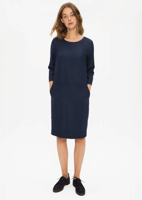 Zenggi Flannel Shift Dress Midnight Blue