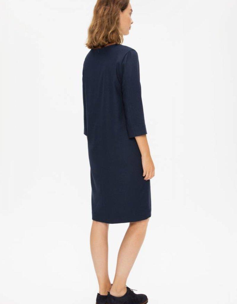 Zenggi Flannel Shift Dress Midnight Blue