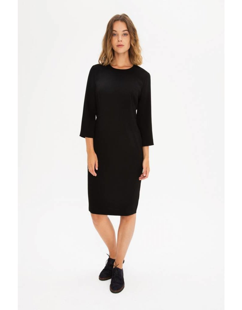 Zenggi Fitted Crepe Dress Black