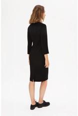 Zenggi Fitted Crepe Dress Black