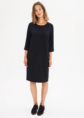 Zenggi Crepe Shift Dress Midnight Blue